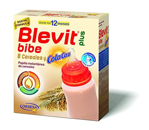Blevit Plus Bibe 8 Cereales y ColaCao - Papilla de Cereales para Bebé fórmula especial para Biberón - Sabor Cola Cao - Desde los 12 meses - 600g