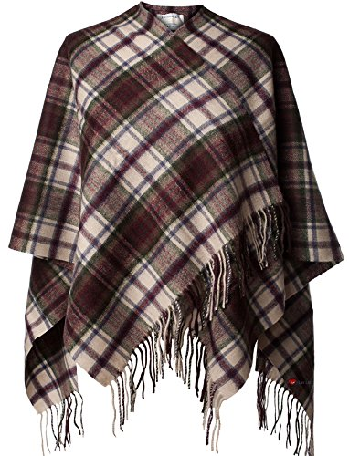 I Luv Ltd Ladies Lambswool Cape in MacDuff Dress Tartan