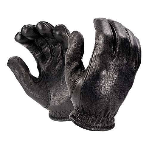 Hatch FM2000 Friskmaster All-Leather, Cut-Resistant Police Duty Glove - Black, Large