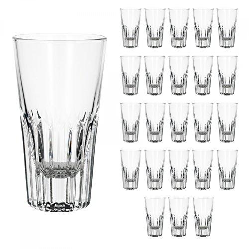 Bormioli 24er Set Rialtobecher Arosa 160 ml Likörgläser Whiskybecher kleines Longdrinkglas Glas kristallklar Gastronomie