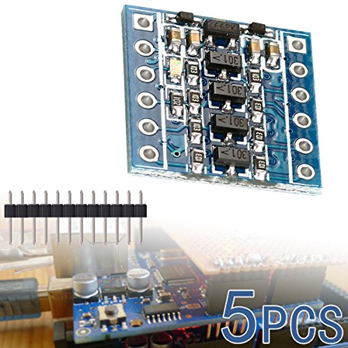 XCSOURCE 5PCS IIC I2C Logic Level Converter Bi-Directional Module 5V to 3.3V TE291