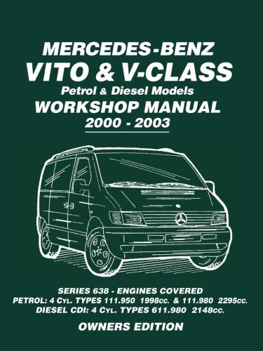Mercedes-Benz Vito & V-Class Petrol & Diesel Models Workshop Manual 2000-2003: Series 638 - Engines Covered Petrol: 4cyl. Types 111.950...