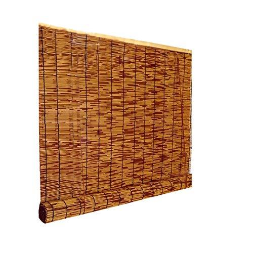 LYQCZ Persianas De CañA Naturales Tejidas A Mano,Cortina De Paja Sombreado,Estor Enrollable De Bambú Natural,Adecuado para Puertas Y Ventanas Exteriores/Interiore(60x70cm/24x28in)