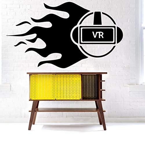 Qliyt Gläser Wandtattoo Vinyl Aufkleber Dekor Wandbild Virtuelle Realität Wohnkultur Modernes Design Vinyl Wohnzimmer Wandaufkleber 58X33 Cm