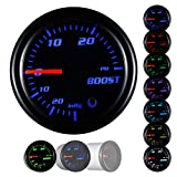 Turbo Boost/Vacuum Gauge Kit 30 PSI Tinted 7 Color - Includes Mechanical Hose & T-Fitting ...