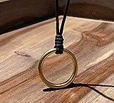 Mens Circle necklace Mens Ring Necklace Mens Karma Pendant Boho Eternity Link Necklace O Ring Necklace Unisex Pendant Mens Bohemian Circle