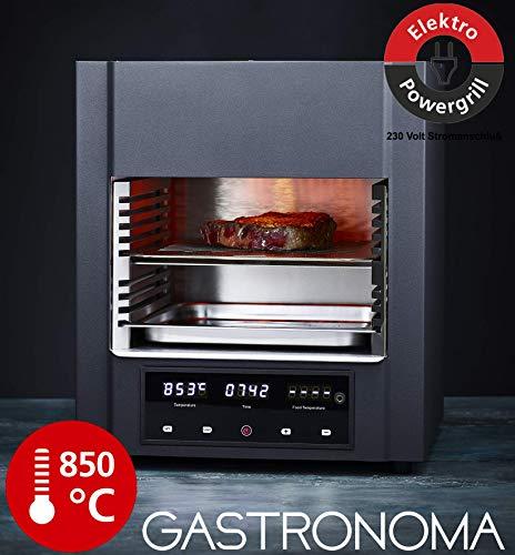 Gastronoma 18340002 Beef Cube SteakCUBE, Hochleistungstemperatur, Elektro Grill, 850 Grad °C, Infrarot-Heizelemente, gekühltes Gehäuse, LED-Display, Abschaltautomatik, inklusive Fleisch-Thermometer