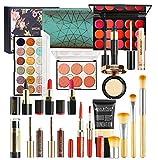 LEAMALLS 18 Piezas Estuches Juego de Maquillaje Completo Kit de Cosmético todo en uno Regalo Maquillaje Sombra de Ojos Paleta para Ojos Labios y Rostro Professional Makeup