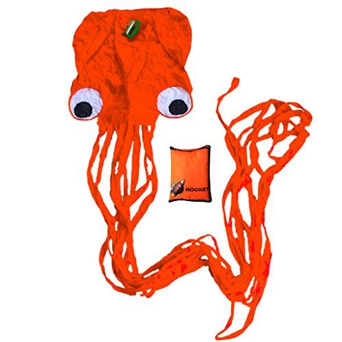 Little Rocket Octopus Kite Easy to Fly Kite. Perfect Kite for Kids! Childrens Kite that Flies Easily and Lovely Stocking Filler