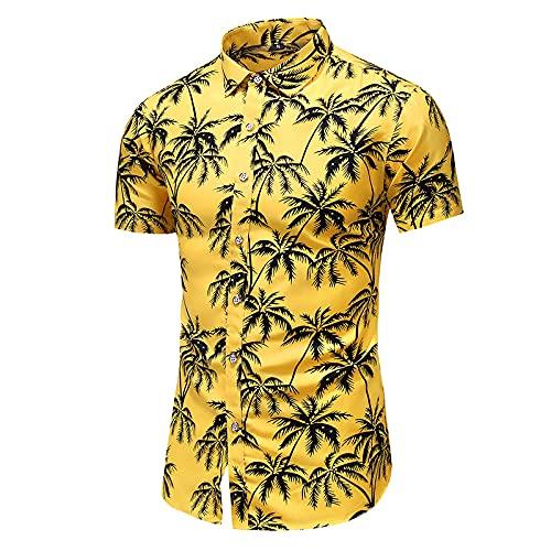 Camiseta De Manga Corta T-Shirt Moda 9 Estilo Camisa Casual De Manga Corta con Estampado De Hombres Blusa De Playa Ropa De Verano-9019_3_5XL_For_190_Cm_100Kg