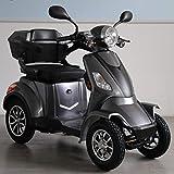Elektroroller 4-Rad, Elektromobil für Senioren, Scooter E-Mobil, Seniorenfahrzeug, 55km 1000W 25 Km/h (Grau)