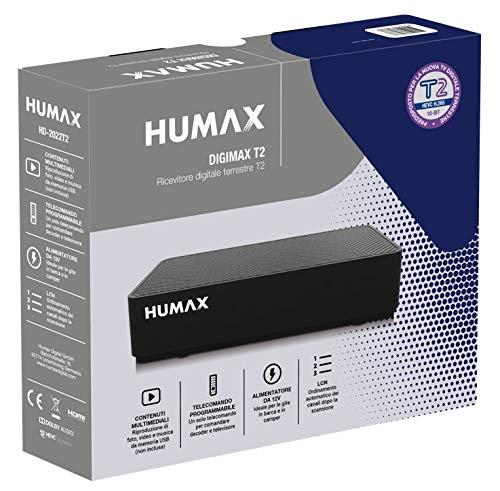 Humax - Decoder digitale terrestre DVB-T2 HD-2022T2 Digimax T2