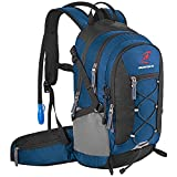 SHARKMOUTH Hydration Pack Backpack, Insulated Water Backpack with 2.5L Leakproof Bladder Reservior, Lightweight Backpack for Men Women Kids, Daypack for Hiking Running Cycling Camping Commuter