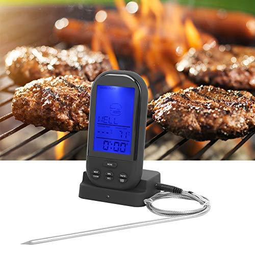 Jacksing Termómetro inalámbrico para Carne, termómetro para Alimentos, Barbacoa portátil para pícnics, hornos, Parrillas