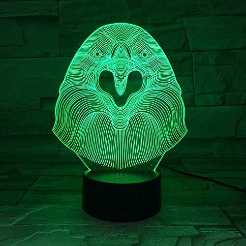 Lámpara 3D ilusión lámpara para habitación infantil Owl selection para sala de estar, cama, bar, regalo juguetes para niños y niñas Con interfaz USB, cambio de color colorido