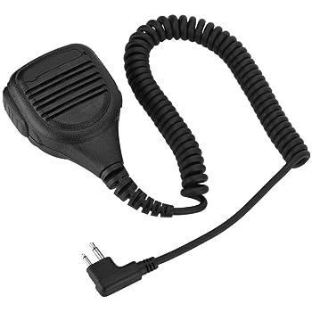 Altavoz de Mano Radio Micr/ófono Compatible para Kenwood//BAOFENG Mugast Altavoz de Mano para Walkie Talkie