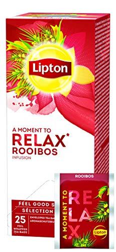 Lipton aromatisierter Rooibos Tee (dezente Gewürznote), 3er Pack (3 x 25 Teebeutel)