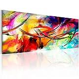 murando Cuadro en Lienzo Abstracto 135x45 cm 1 Parte impresión en Material Tejido no Tejido Cuadro de Pared impresión artística fotografía Imagen gráfica como Pintado Colorido a-A-0001-b-c