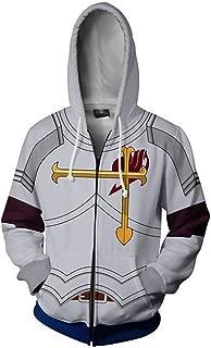 Memory meteor Fairy Tail Anime Hoodie Cosplay Full-Zip Unisex Costume Jacket Coat