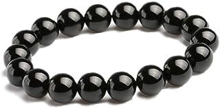 hibikurasu ブラックオニキス パワーストーン ブレスレット 数珠 ブレス 天然石 黒瑪瑙 ブラック オニキス (10mm)