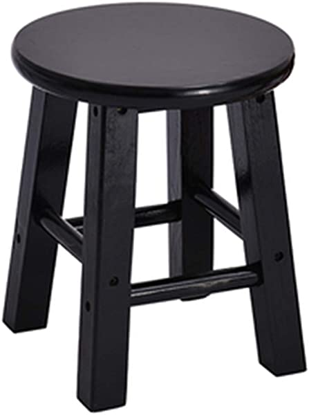 Sigmat Wood Kid Round Stools And Toddler Chair Black