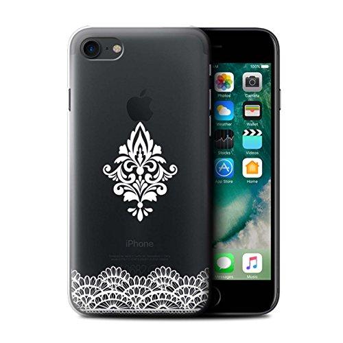 Custodia/Cover/Caso/Cassa Rigide/Prottetiva STUFF4 stampata con il disegno Pizzo Floreale per Apple iPhone 7 - Damasco