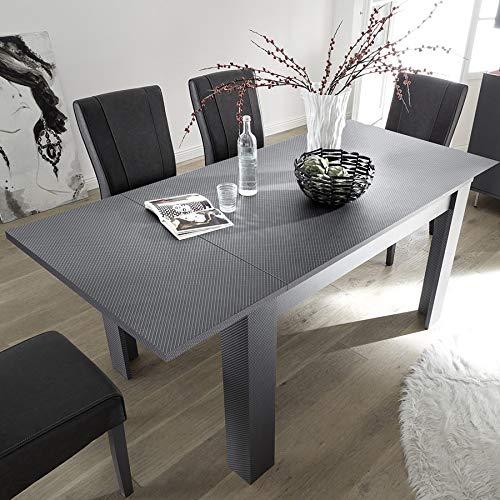 Castelli Esstisch, ausziehbar, 140 cm, Grau