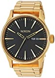 Nixon Sentry SS A356510-00. All Gold/Black Men's Watch (42mm Gold/Black Watch Case. 23-20mm Gold Stainless Steel Band), Gold-Tone/Black