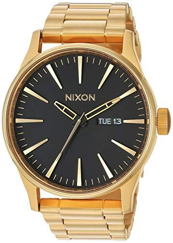 Nixon Armbanduhr Sentry Edelstahl All Gold / Black