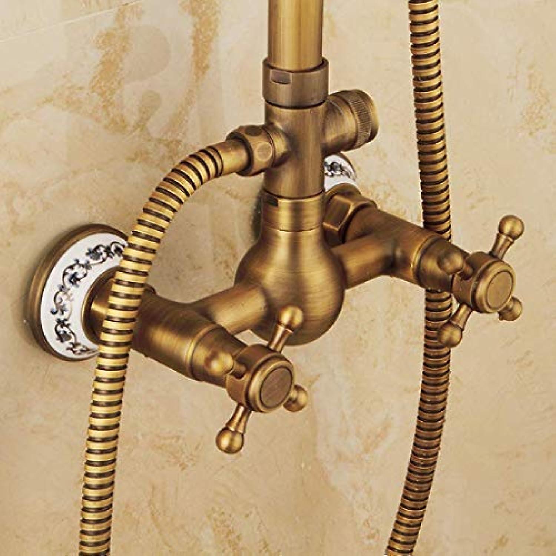 LHW Shower Set chkit, Dusche, Kupfer, Europisch, Antik, Dusche, Duschkopf Warm, Kalt Wasserhahn, Bad Lift Dusche