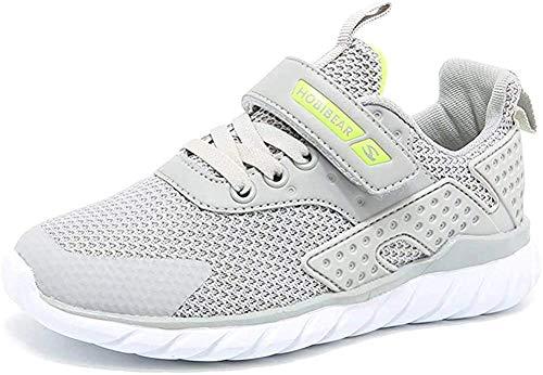 populalar Turnschuhe Kinder Sneaker Jungen Sportschuhe Mädchen Hallenschuhe Outdoor Laufschuhe Für Unisex-Kinder, Grau, 29 EU (Herstellergröße: 30)