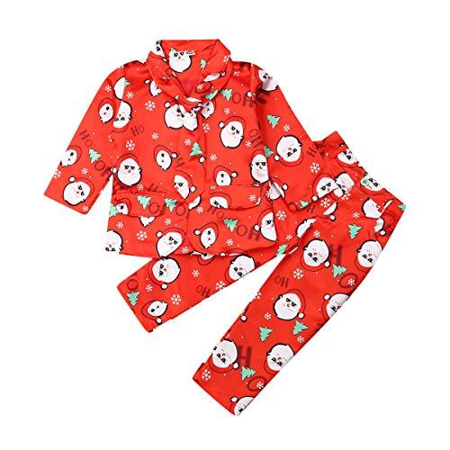 Little Boy Christmas Formal Dresswear Suit Set Blazer Jacket Pants Tie Gentleman Outfit (Red - Santa, 7-8 Years)