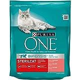 PURINA ONE Bifensis Pienso para Gatos Esterilizados Salmón y Trigo 8 x 800 g