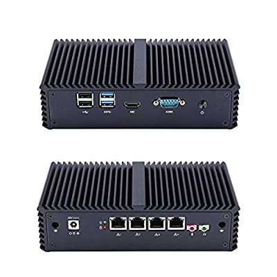 Qotom Mini PC Q355G4 Industrial PC Firewall Router with 4 Gigabit NIC AES-NI Intel Core i5 5200U Tiny Computer