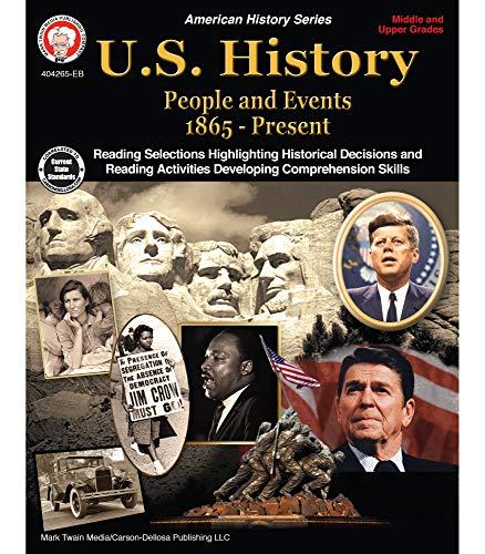 Mark Twain Media | US History 1865–Present Resource Workbook | 6th–12 Grade, 96pgs (American History)