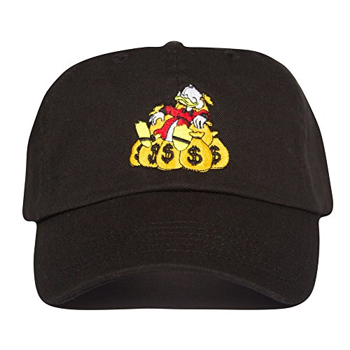 Uptop Studios Money Bags Hat - Black Scrooge mcduck Dad Cap