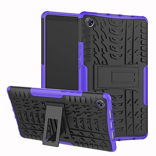 xinyunew Huawei Mediapad M5 8.4 Hülle, Handyhülle Hülle 360 Grad Ganzkörper Schutzhülle+Panzerglas Schutzfolie Schützend Handys Schut zhülle Tasche Cover Skin mit Ständer für Huawei M5 8.4 Lila