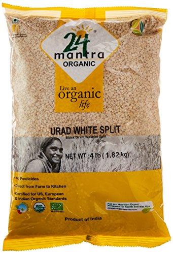 24 Mantara 24 Mantra Organic Urad White Split - 4 Lb,, ()
