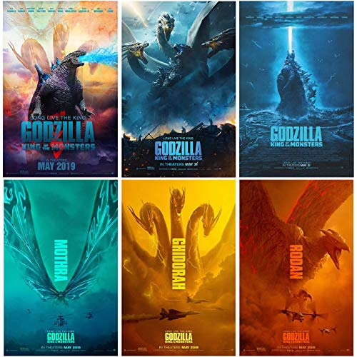 "Set of 6 Godzilla (2019, King of The Monsters) 11""x17"" Posters. Each Poster is 11""x17"" in Size."