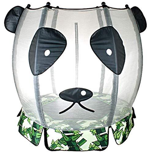 JY&WIN Trampolín de jardín Trampolín de Interior para reboteadores silenciosos de Interior para niños con trampolín de Red de protección para Adultos al Aire Libre, con 150 kg (Color: Verde, tamaño