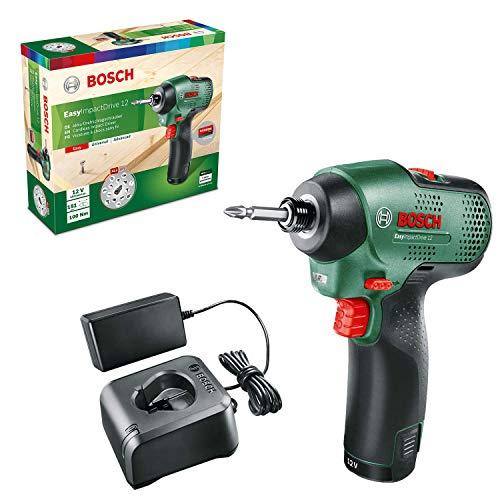 Bosch Home and Garden Bosch 06033D6001 EasyImpactDrive 12 - Atornillador de impacto (1 batería, sistema de 12 V, en caja)
