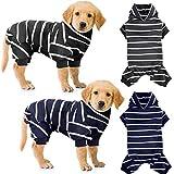 2 Piezas Pijamas para Perros Mono Suave Ropa Transpirable de Algodón de Mascotas Jerséis de 4 Patas para Perros Pequeños Medianos