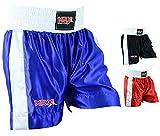 Men Boxing Shorts for Boxing Training Fitness Gym Cage Fight MMA Mauy Thai Kickboxing Trunks Clothing Blue Medium