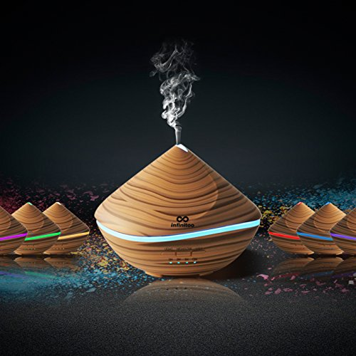 Diffuser, Aroma Diffuser infinitoo 500ML Sandduene Design Diffusor | Raumbefeuchter Ultraschall mit 7 LED Farbwechsel fuer Wohnzimmer, Baby, SPA, Buero (500ML)