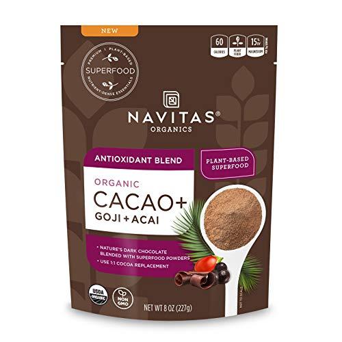 Navitas Organics Cacao+ Blend: Antioxidant (Cacao + Acai + Goji), 8oz. Bag — Organic, Non-Gmo, Gluten-Free