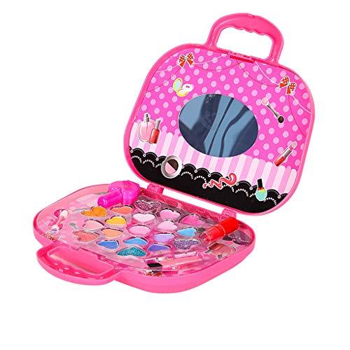 HSKB Mädchen Schminke Pretend Make-up Sets | Washable Regenbogen Schminke | für Kinder Mädchen Kosmetik | Schminkkoffer Beauty Case - Safety Tested- Non Toxic