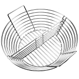 GriAddict Lump Charcoal Basket with Divider, Big Green Egg Accessories - Stainless Ash Basket for...