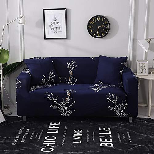 Funda de sofá Strecth con Estampado Floral Fundas de sofá de geometría elástica para Sala de Estar Fundas para sillón Funda de sofá A18 3 plazas