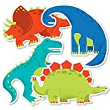 Roar Dinosaur - T-Rex, Triceratops, Stegosaurus and Brontosaurus Decorations DIY Dino Mite Baby Shower or Birthday Party Essentials - Set of 20