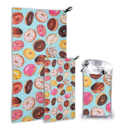 Lsjuee Fast Quick Dry ?¤ Ultra Compact ?¤ Lightweight,Delicious Doughnuts Microfiber Towels - Gym Travel Camp Backpackin